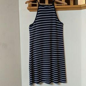Aerie navy blue striped dress, size M